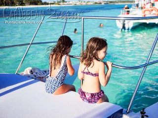 Kids on Catamaran