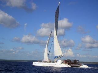 Sailing to Saona Island