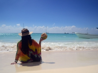 Coconut Girl on Saona