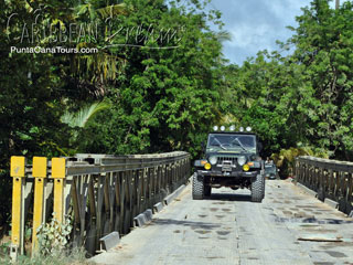 Crossing Bridge on Jeep