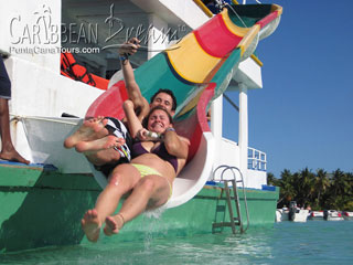 Party Boat Waterslide