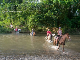 Horse Riding across River
