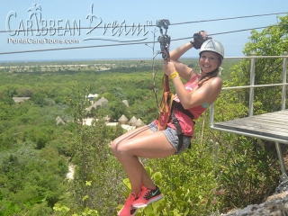 zipline fun girl