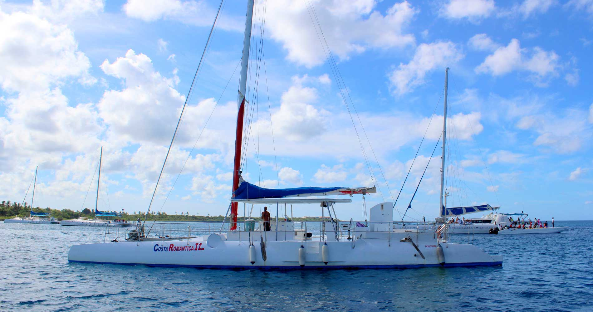 Catamaran to Saona Island